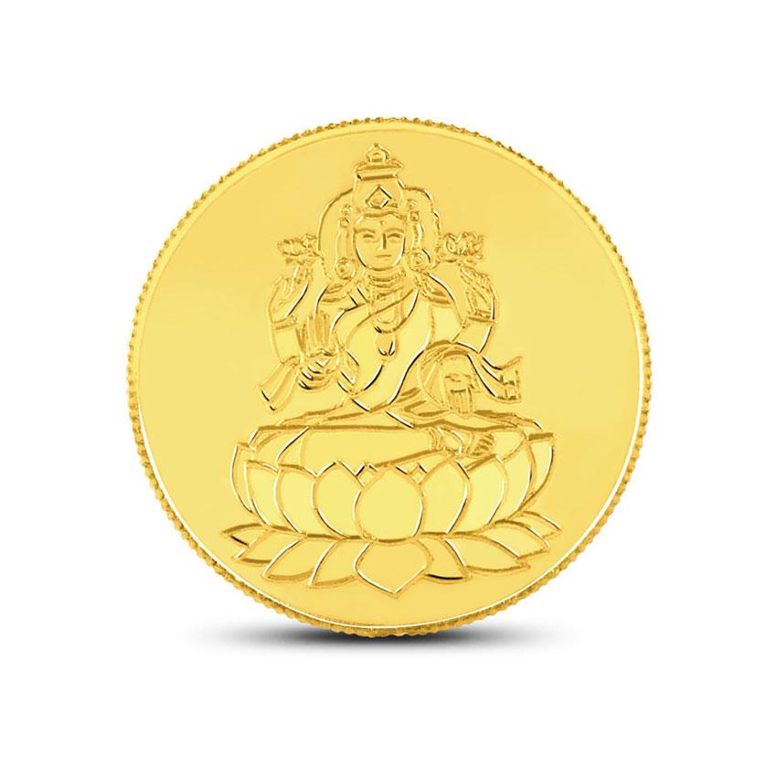 1g, 24Kt Lakshmi Gold Coin