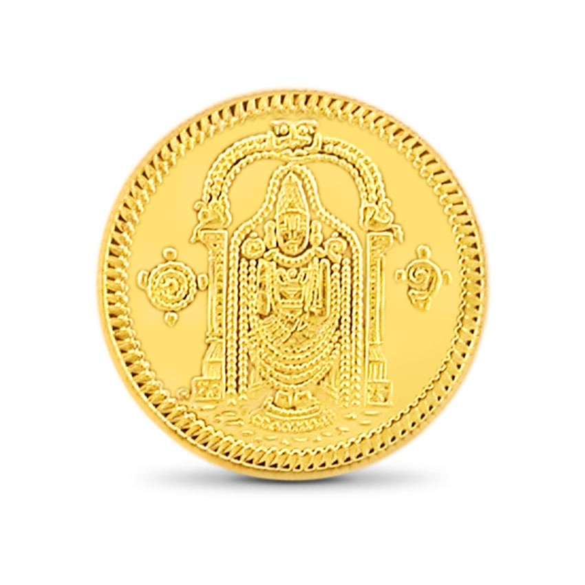 1g, 22Kt Lord Balaji Gold Coin
