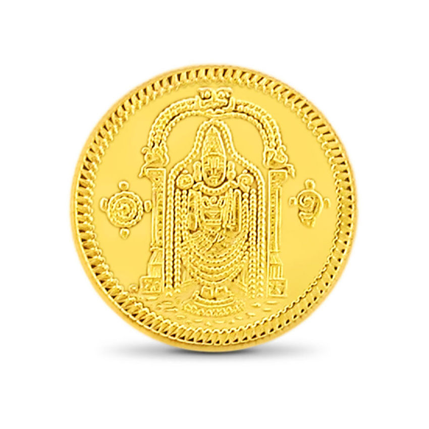 1g, 24Kt Lord Balaji Gold Coin