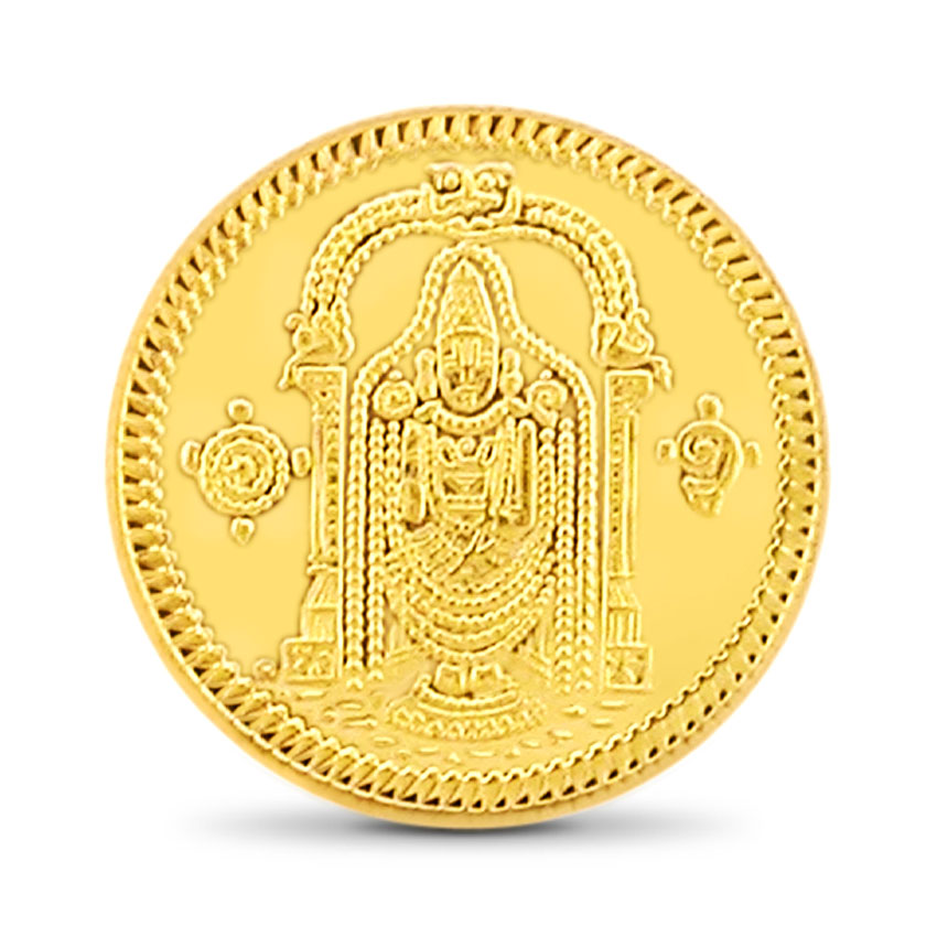 2g, 22Kt Lord Balaji Gold Coin