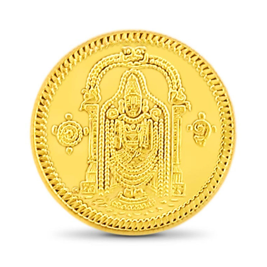 2g, 24Kt Lord Balaji Gold Coin
