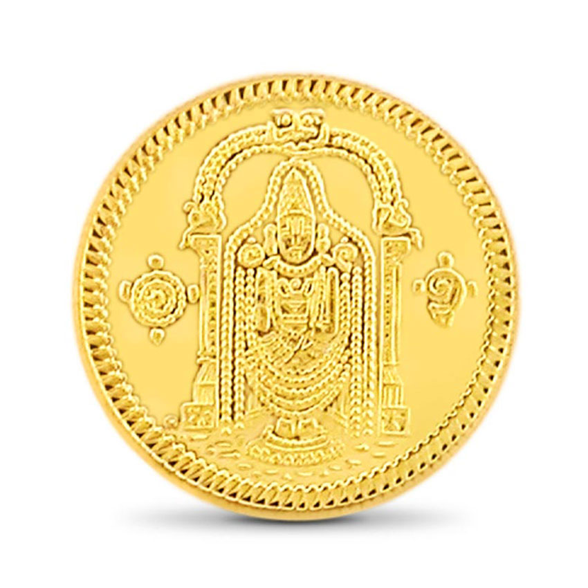 4g, 22Kt Lord Balaji Gold Coin