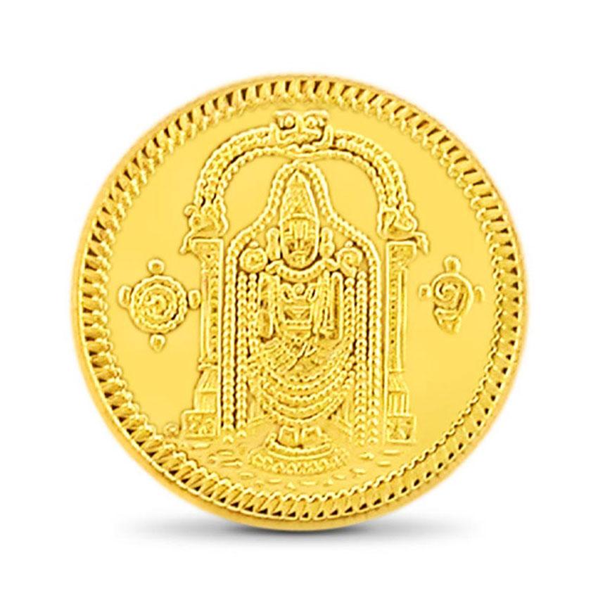 4g, 24Kt Lord Balaji Gold Coin