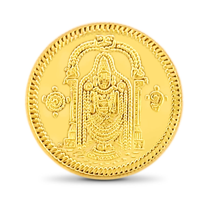 8g, 22Kt Lord Balaji Gold Coin