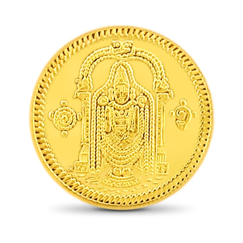 8g, 24Kt Lord Balaji Gold Coin