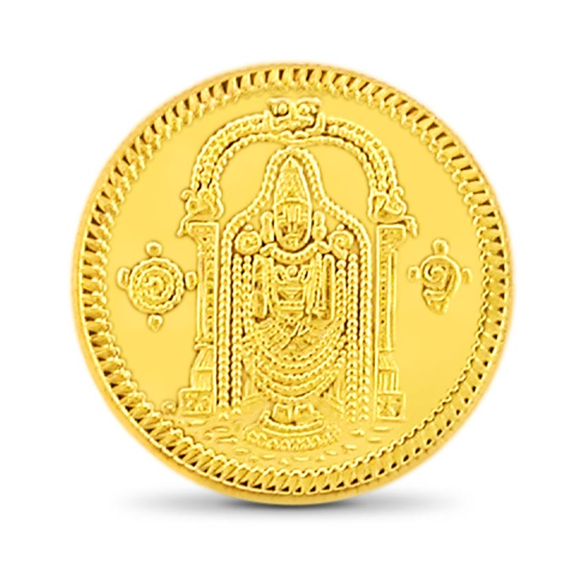 10g, 24Kt Lord Balaji Gold Coin