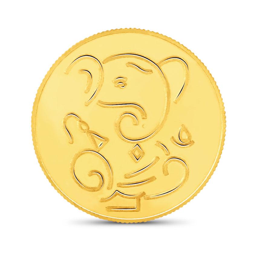 10g, 22Kt Lucky Ganesha Gold Coin