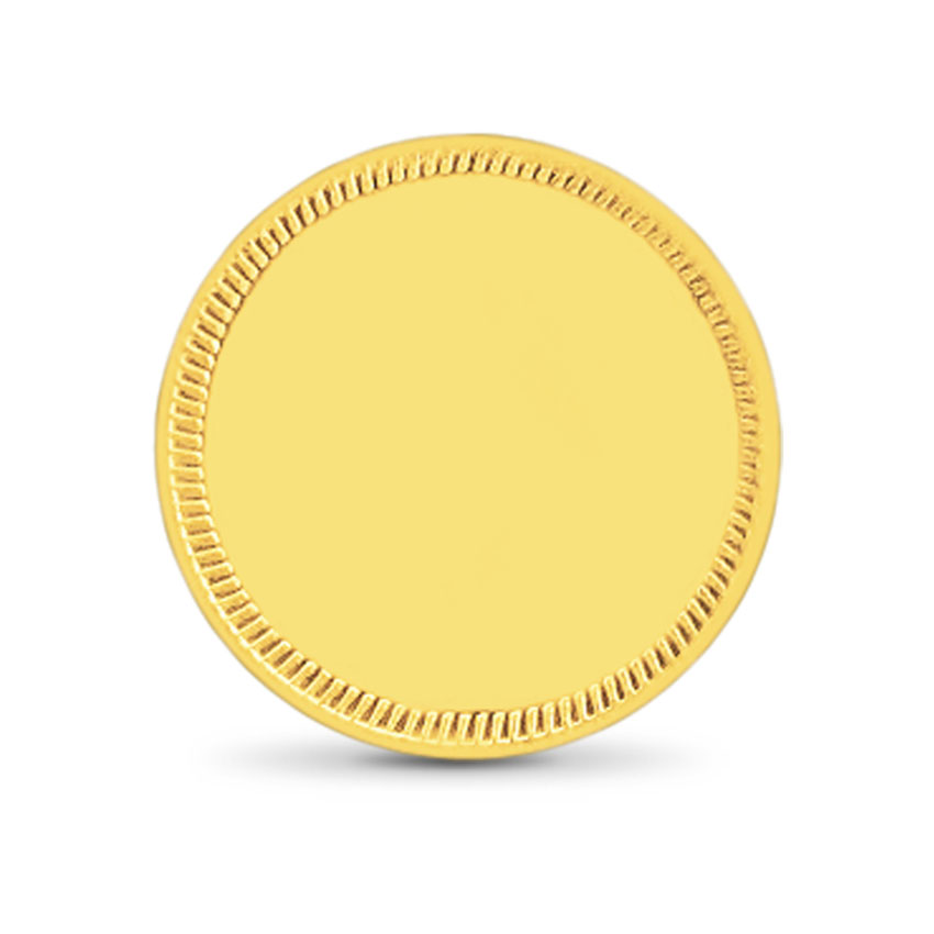 1g, 22Kt Plain Gold Coin