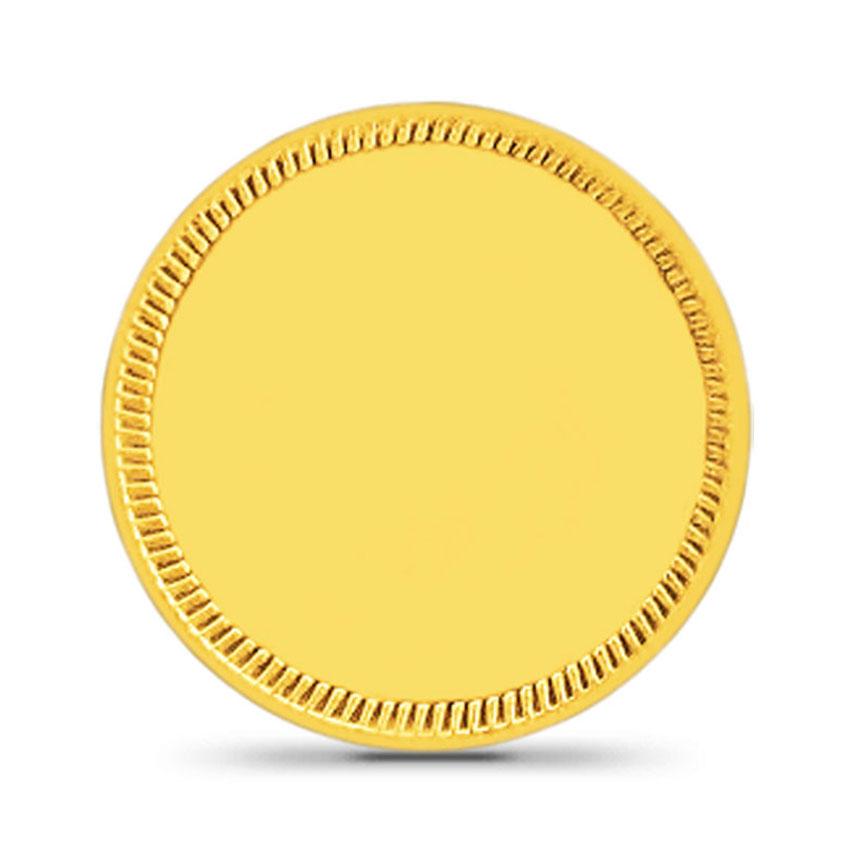 4g, 24Kt Plain Gold Coin