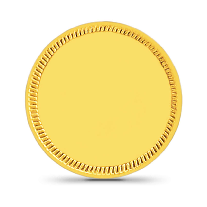 10g, 24Kt Plain Gold Coin