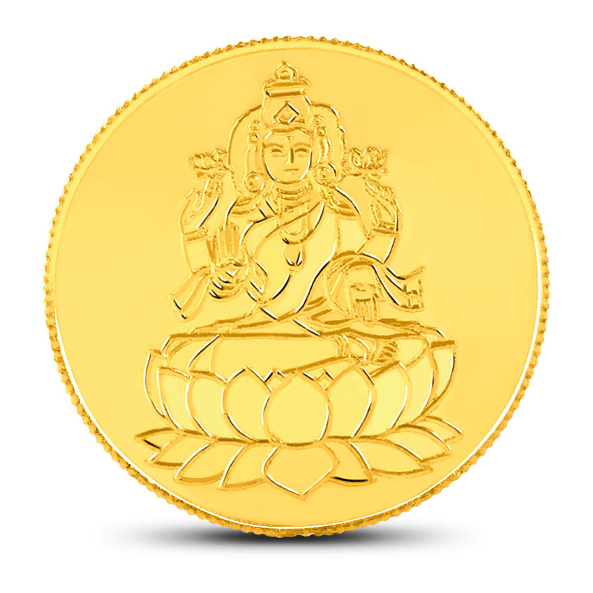 50g, 24Kt Lakshmi Gold Coin