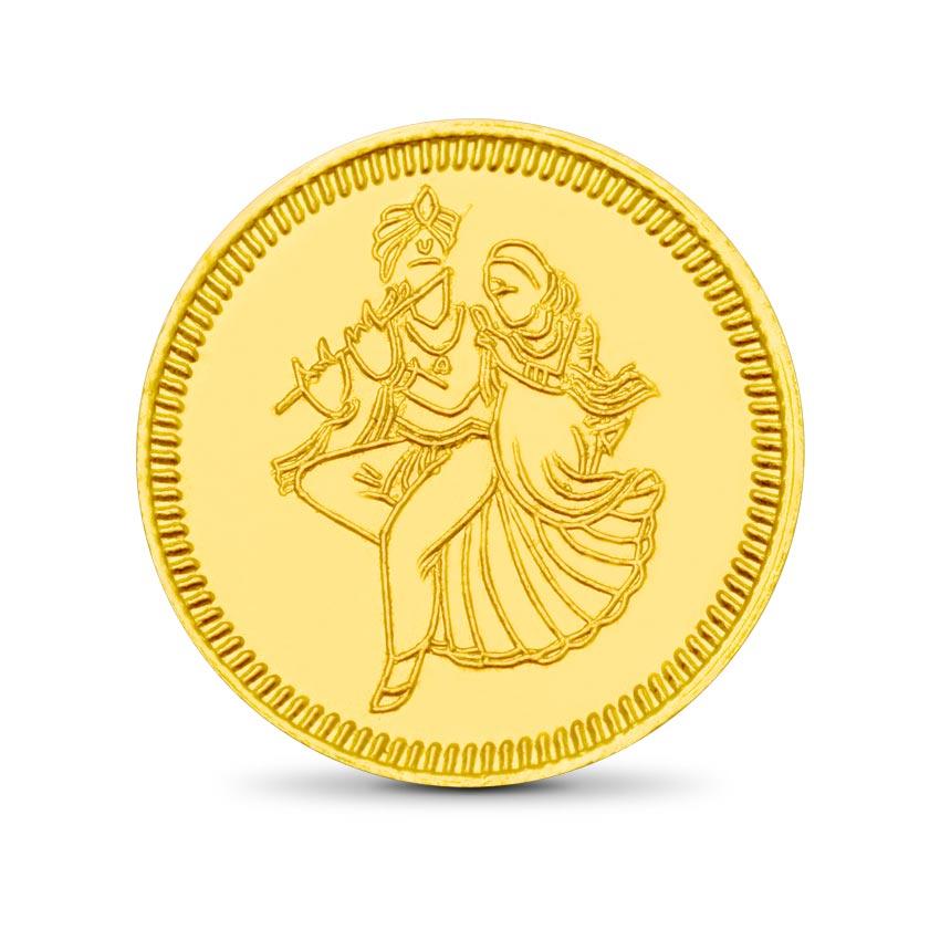 4g, 24Kt Radhe-Krishna Gold Coin