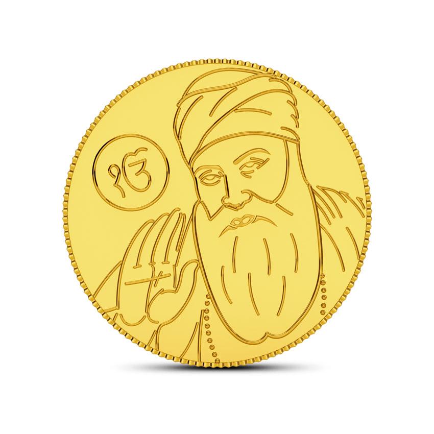 4g, 24Kt Guru Nanak Gold Coin