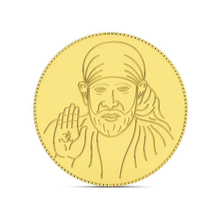 2g, 24Kt Shirdi Sai Baba Gold Coin