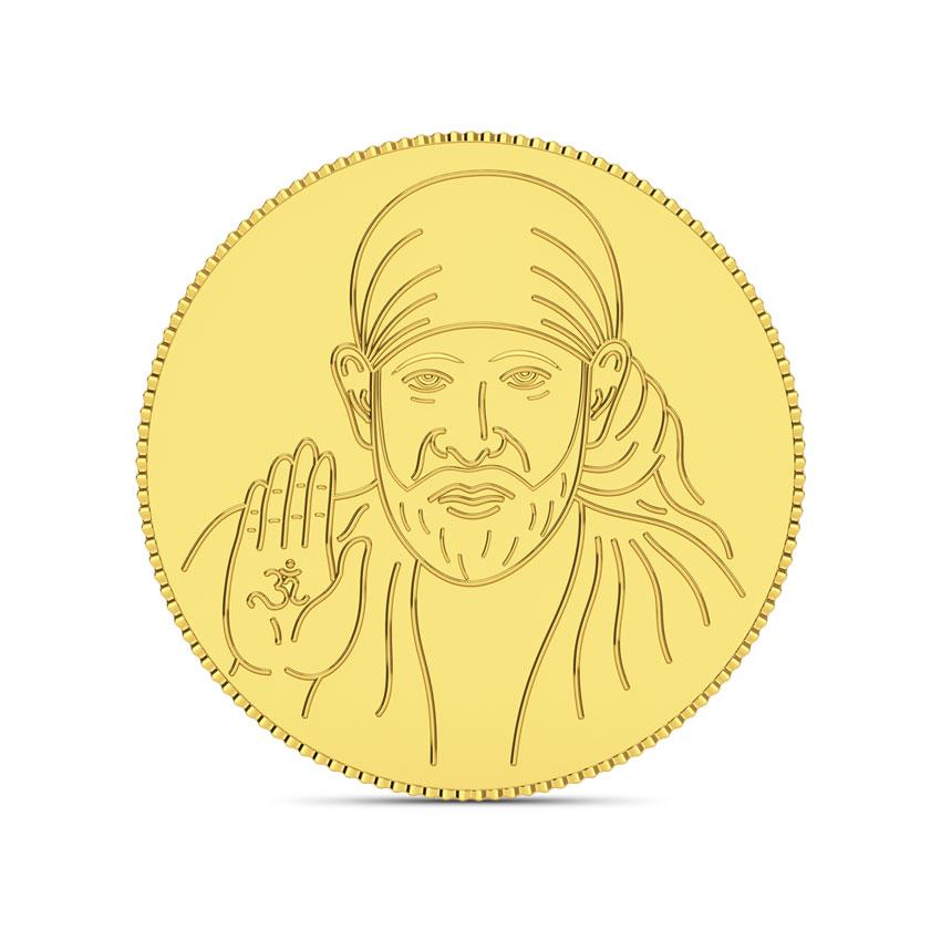 4g, 24Kt Shirdi Sai Baba Gold Coin