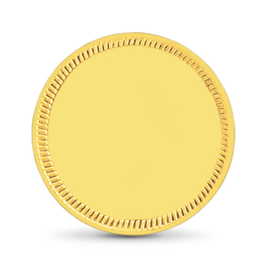 20g, 22Kt 22Kt Plain Gold Coin