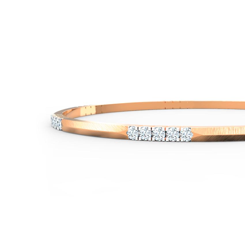 Diamond Bangles 18 Karat Rose Gold Charisma Diamond Bangle