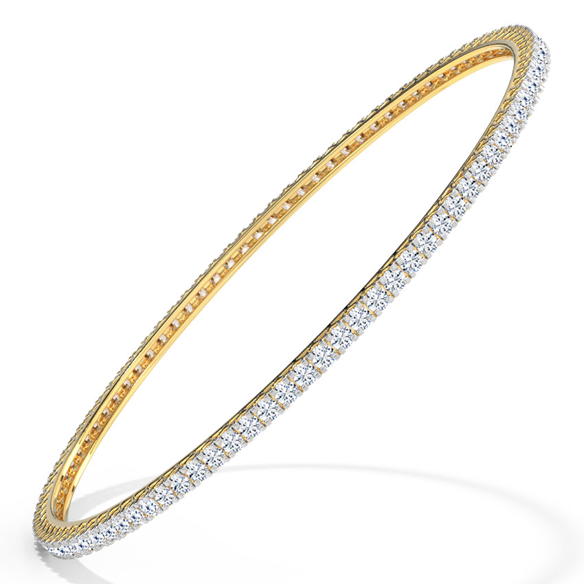 Lustrous Diamond Bangle