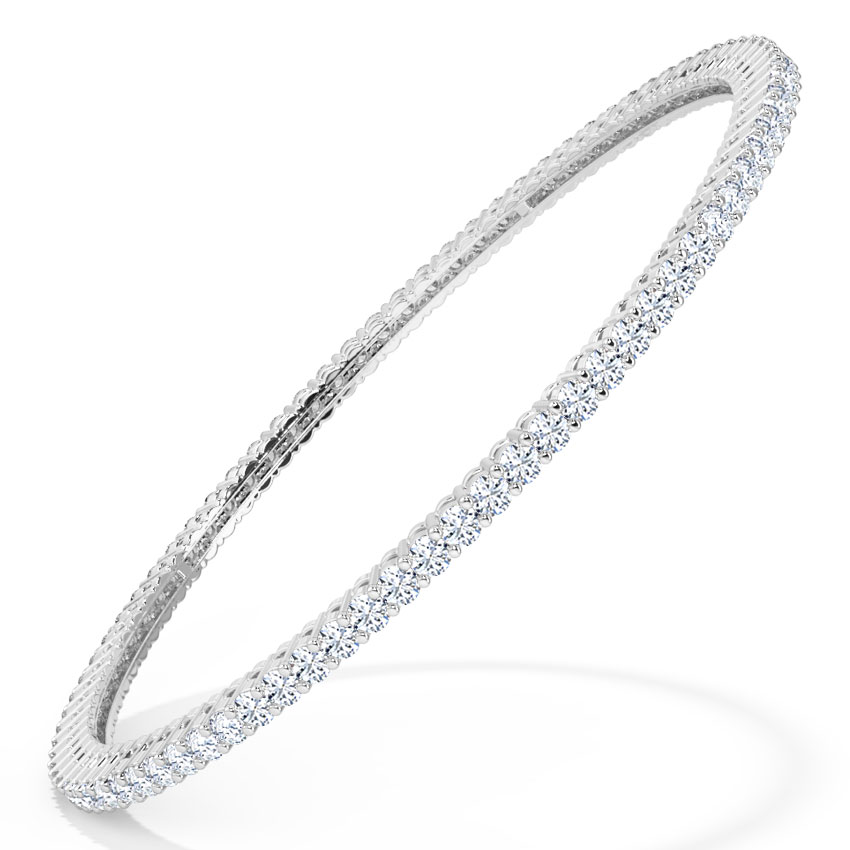 Resplendent Diamond Bangle
