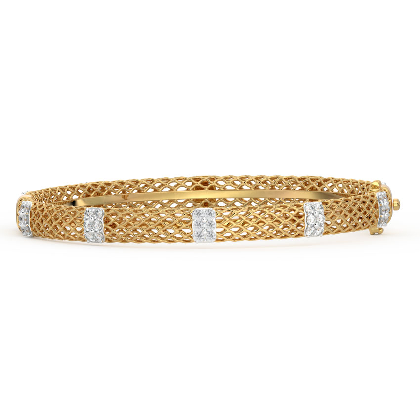Petals Diamond Bangle