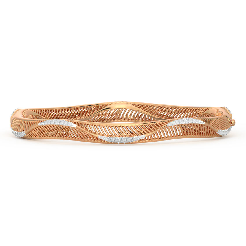 Curvilinear Diamond Bangle