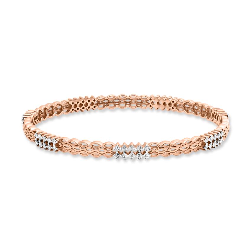 Diamond Bangles 18 Karat Rose Gold Naira Stunning Bangle
