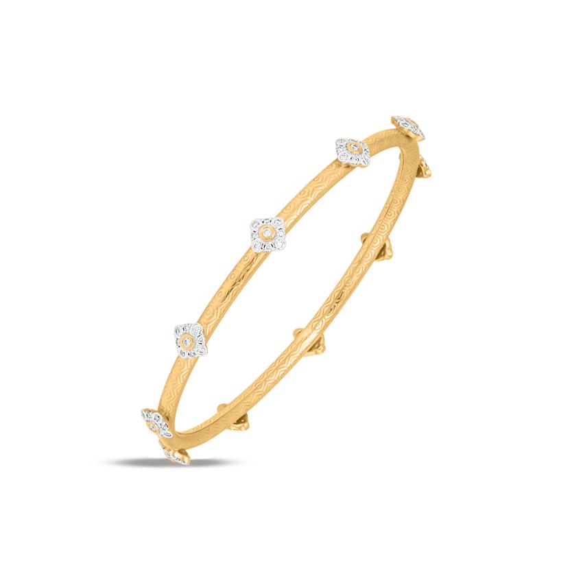 Diamond Bangles 18 Karat Yellow Gold Sia Marvellous Diamond Bangle