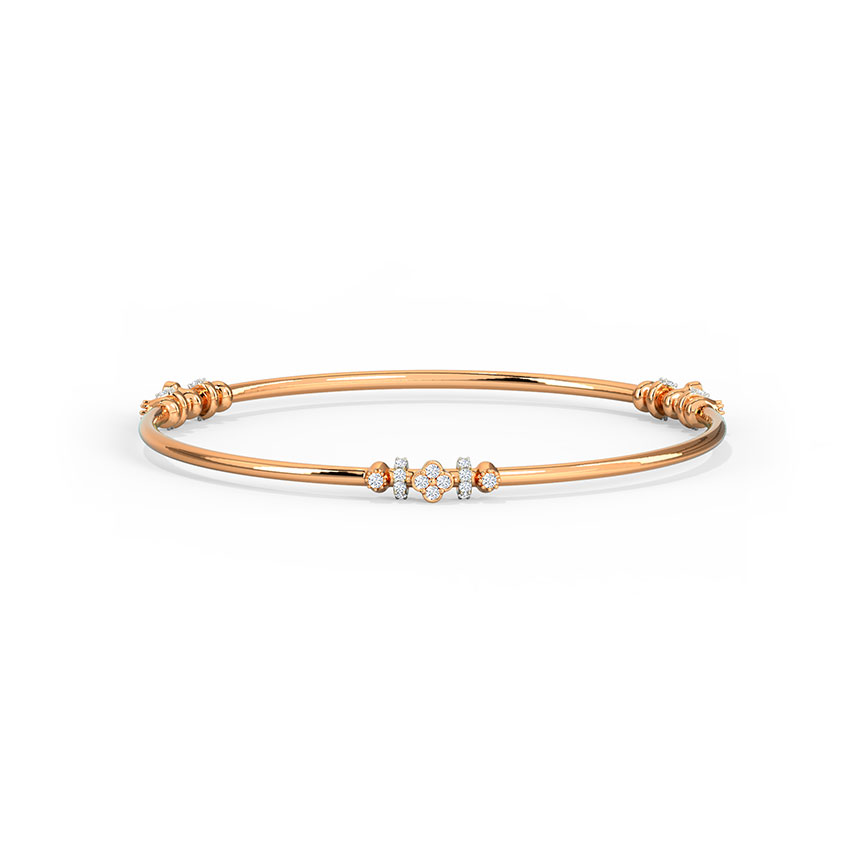 Glinting Clover Bangle