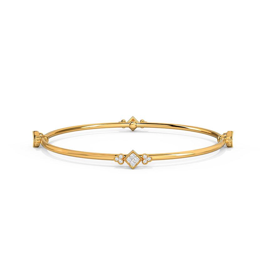 Diamond Bangles 14 Karat Yellow Gold Gina Diamond Bangle