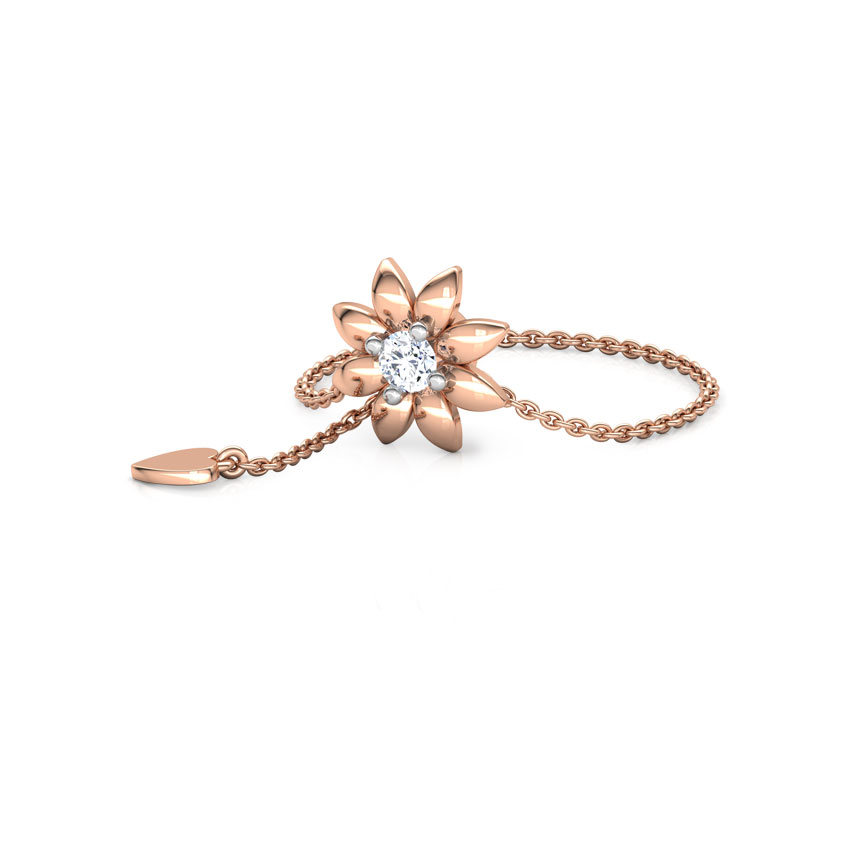 Diamond Adjustable Rings 14 Karat Rose Gold Floweret Diamond Flexi Ring