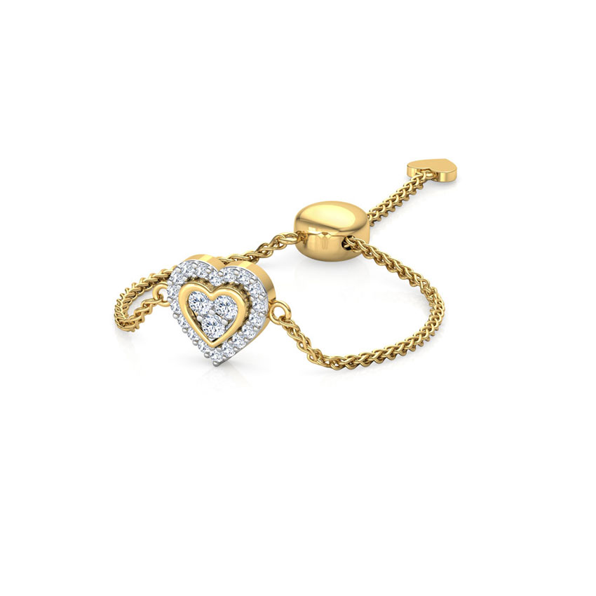 Heart in Heart Flexi Ring