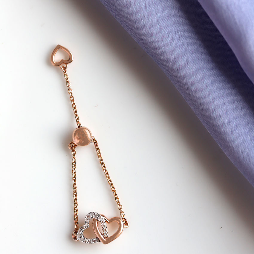 Intertwined Heart Flexi Ring