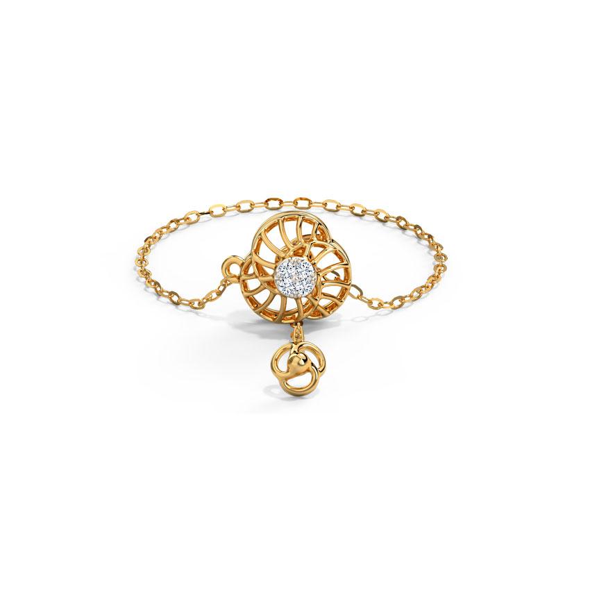 Diamond Adjustable Rings 14 Karat Yellow Gold Graceful Swirl Diamond Flexi Ring