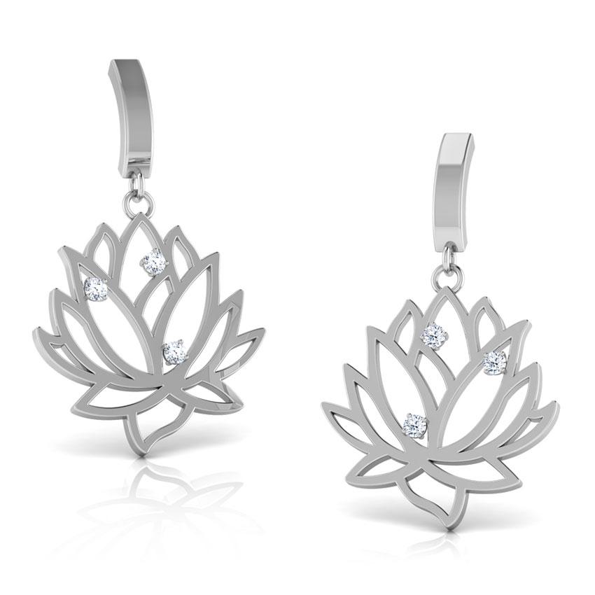 Lakshmi Lotus Drop Earrings