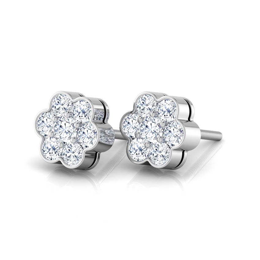 Seven-stone Diamond Earrings