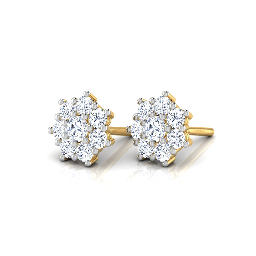 Eight-stone Cluster Studs