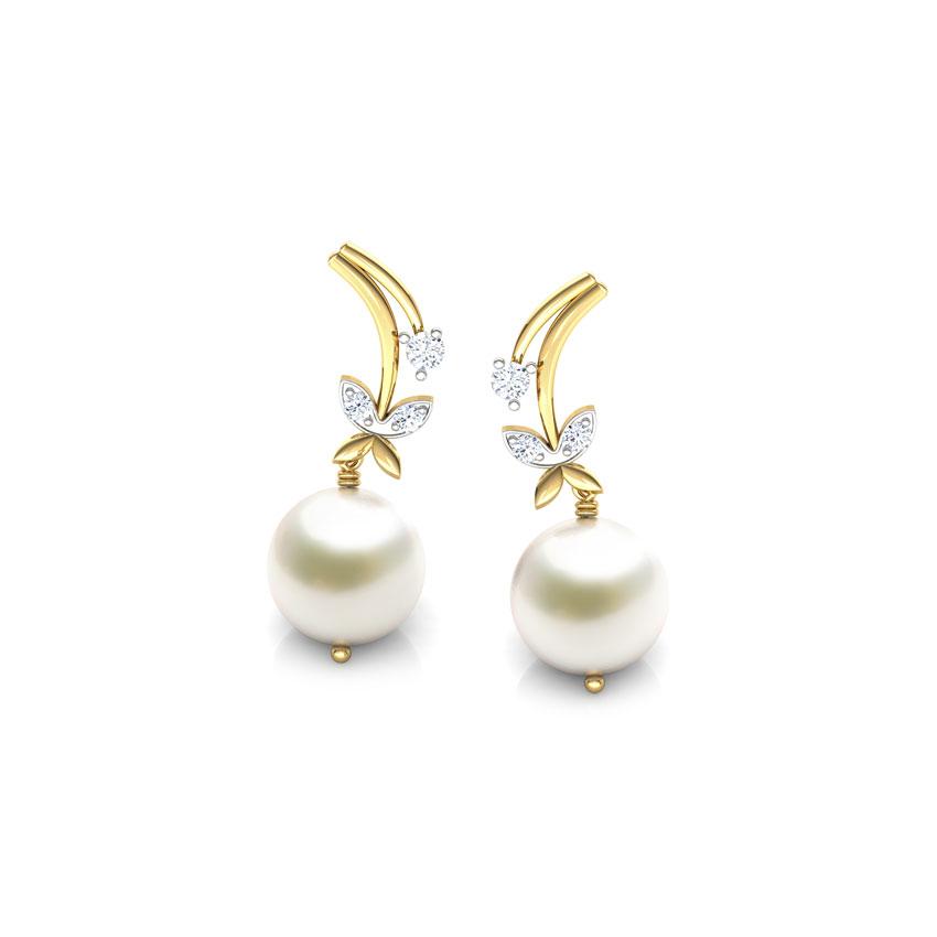 Winter Blossom Pearl earrings