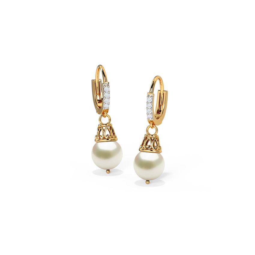 Diamond,Gemstone Earrings 18 Karat Yellow Gold Prudence Gemstone Hoop Earrings