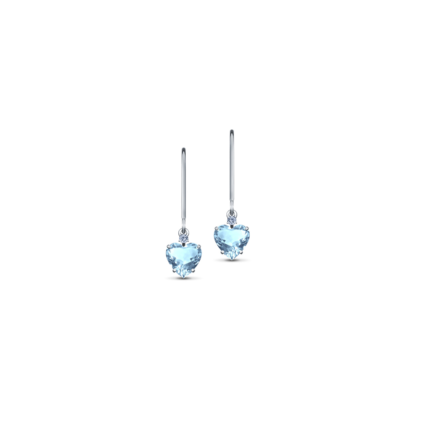 Metro Topaz Heart Earrings