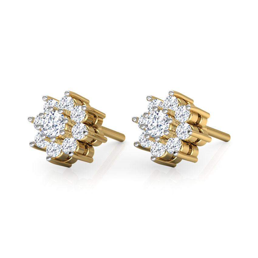 Snowflake 9-Stone Earrings