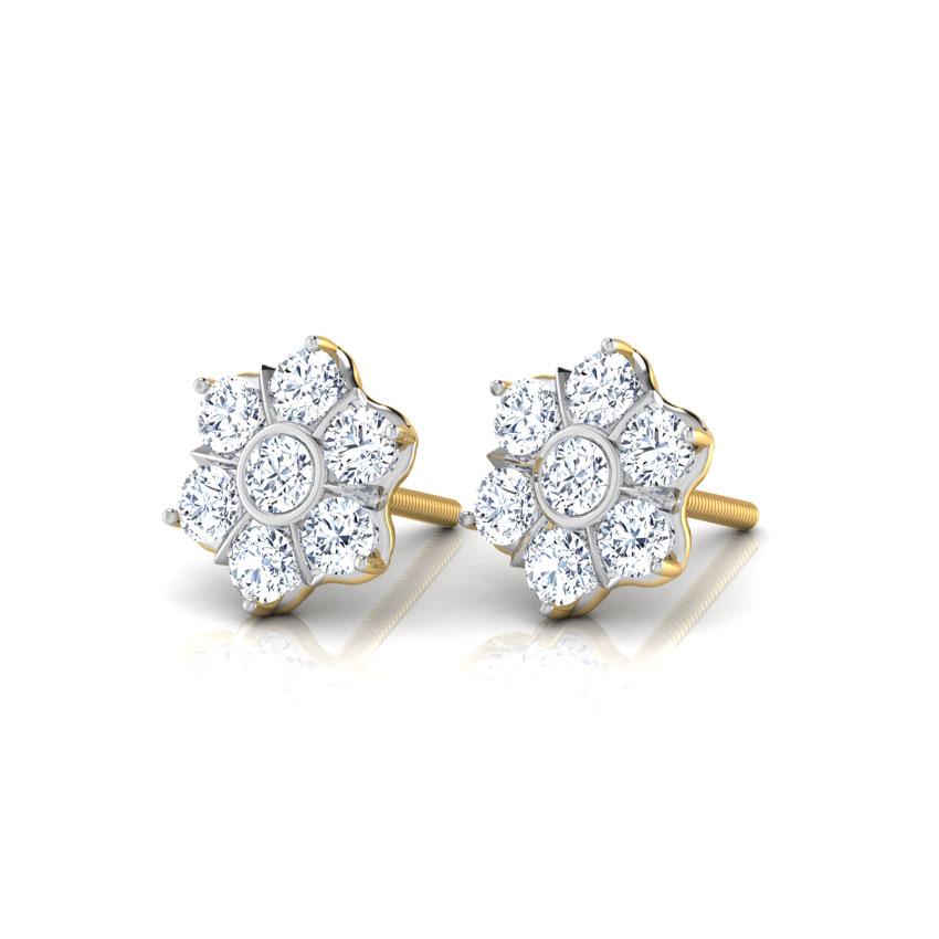 Sparkling Petal Earrings