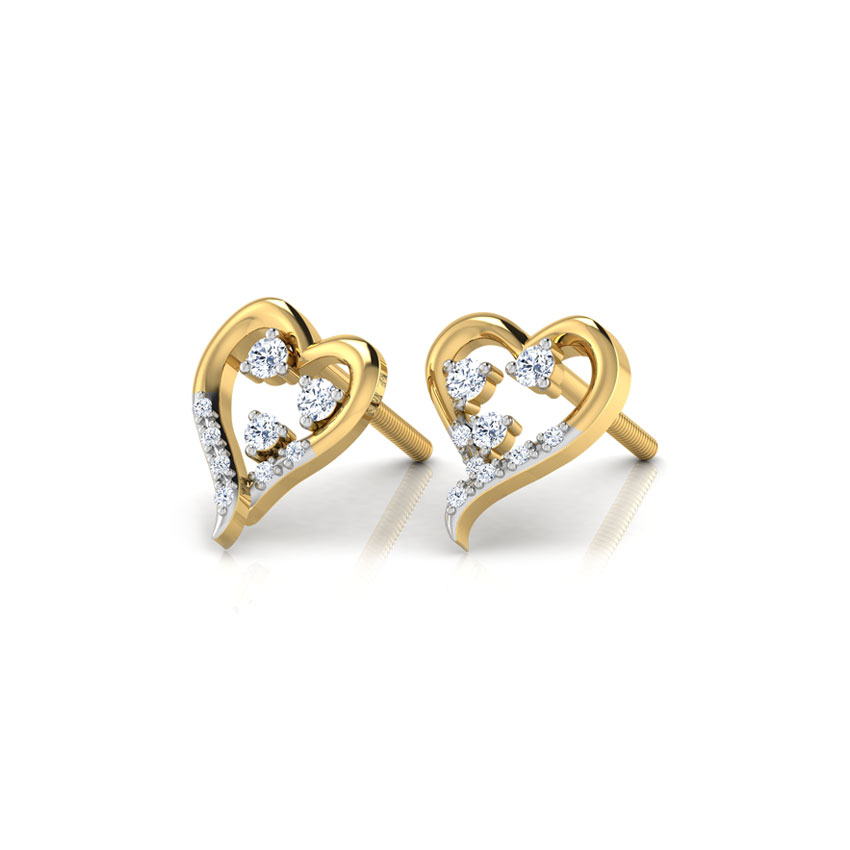 Bejewelled Heart Earrings