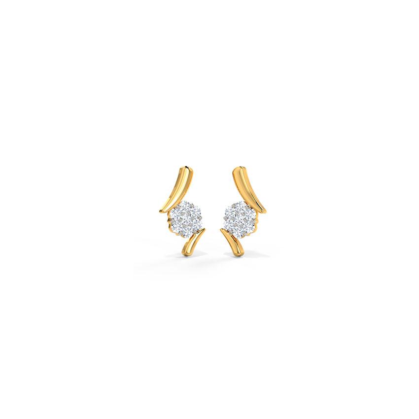 Artistic Floral Diamond Earrings
