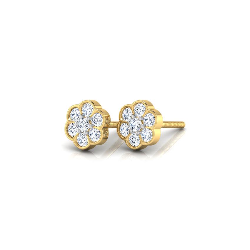 Floral Sparkle Diamond Earrings