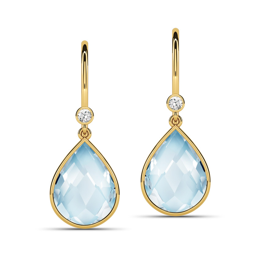 Topaz Poire Drop Earrings