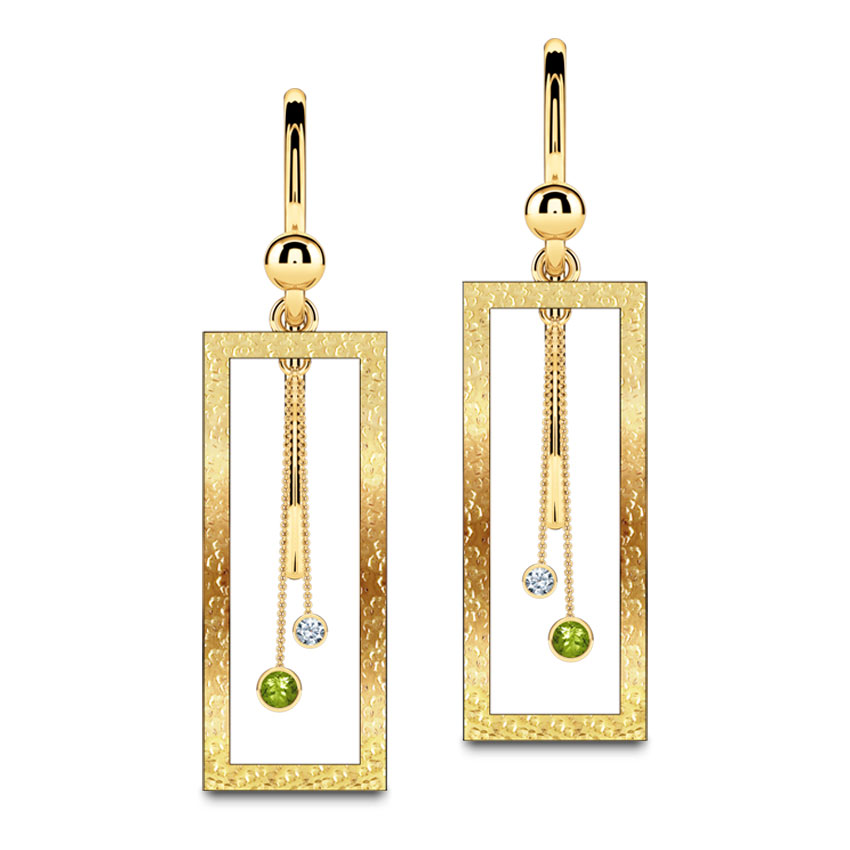 Double Pendulum Drop Earrings