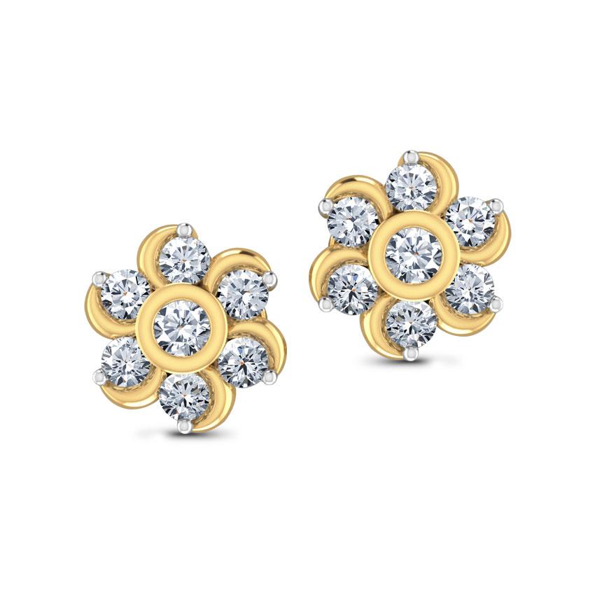 Seven-Stone Diamond Earrings.