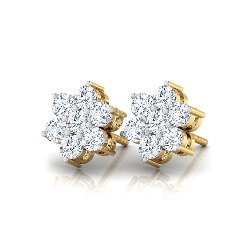Classic Seven-Stone Diamond Studs
