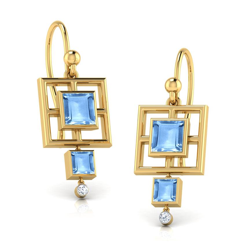 Egyptian Princess Blue Topaz Earrings