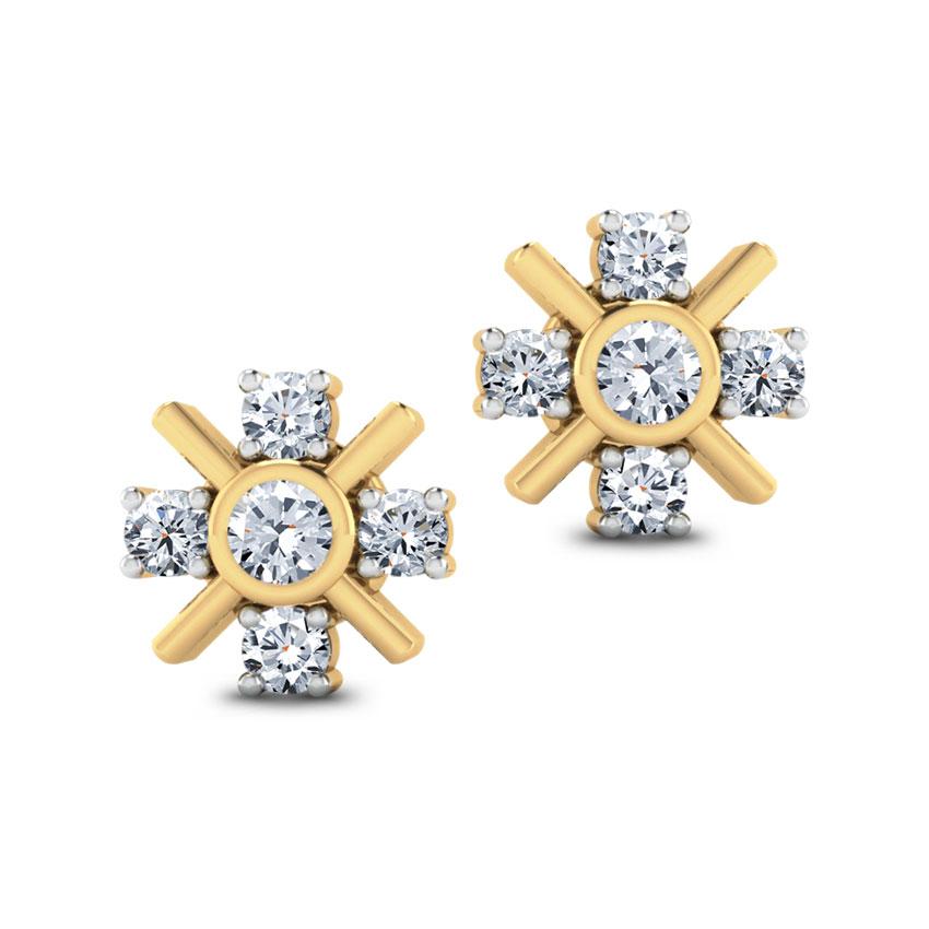 Five-Stone Diamond Studs.
